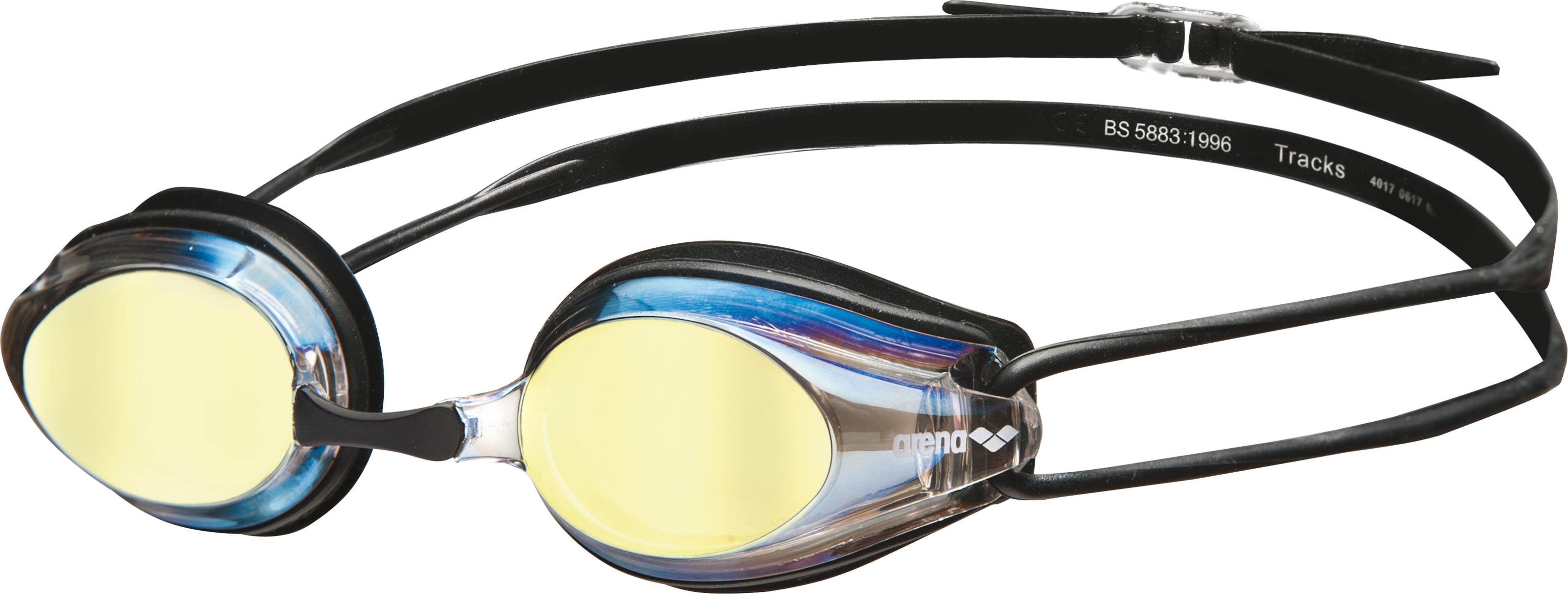 arena Tracks Mirror - Gafas de natación - beige negro  76bf0cb140d